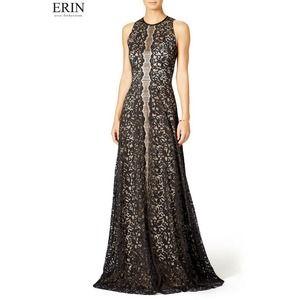Erin Fetherston Pamela Gown 6 Black Lace Sleeveles
